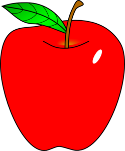 Clipart apples. Teacher apple panda free