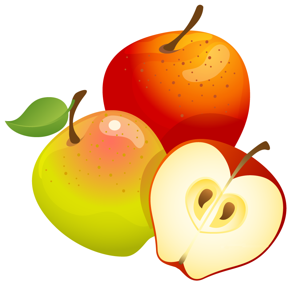 Large painted png gallery. Clipart apples