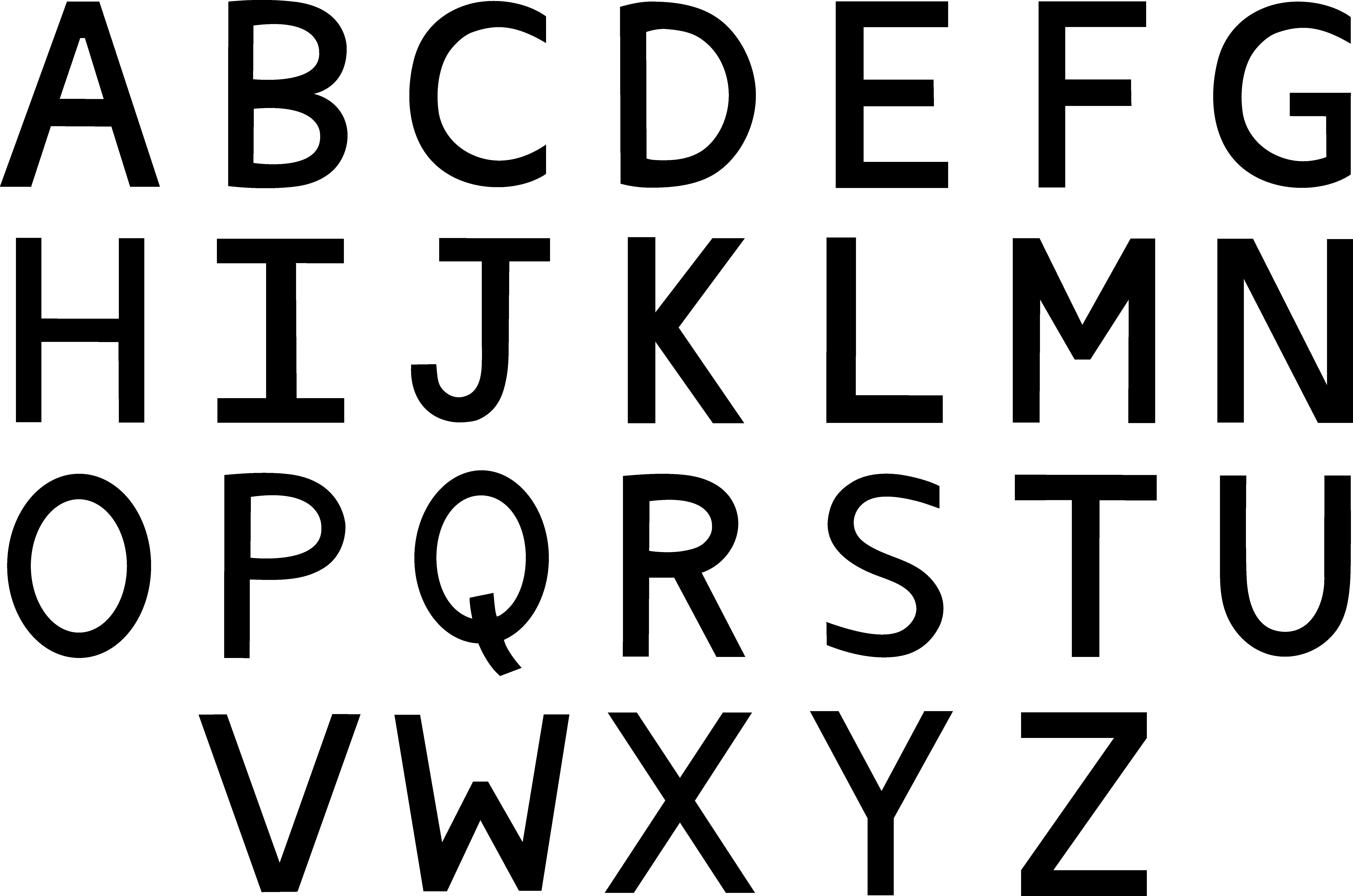 Alphabet letters clip art. E clipart black letter