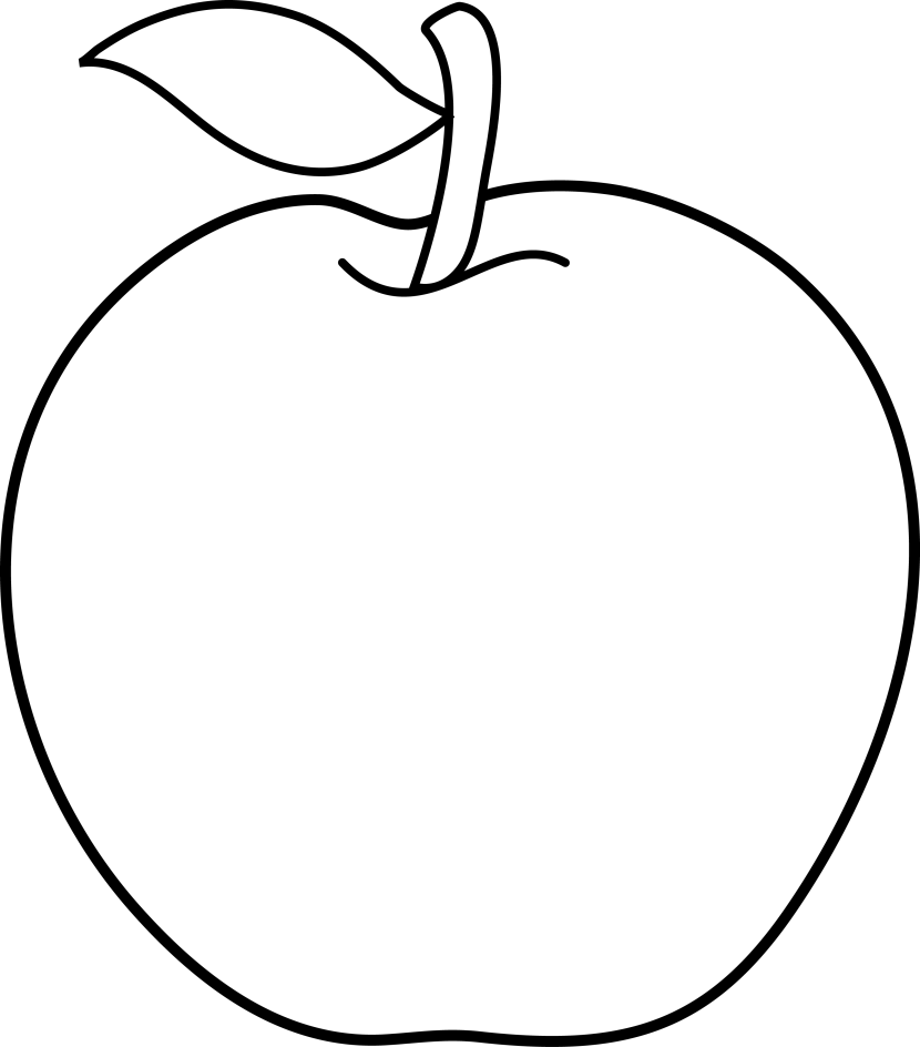 Clipart gallery black and white.  collection of apple