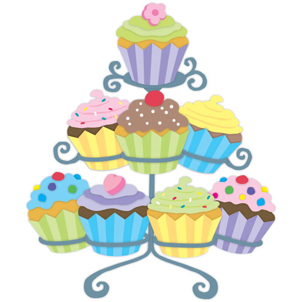 Desserts clipart tower. Gateaux tubes cupcake world