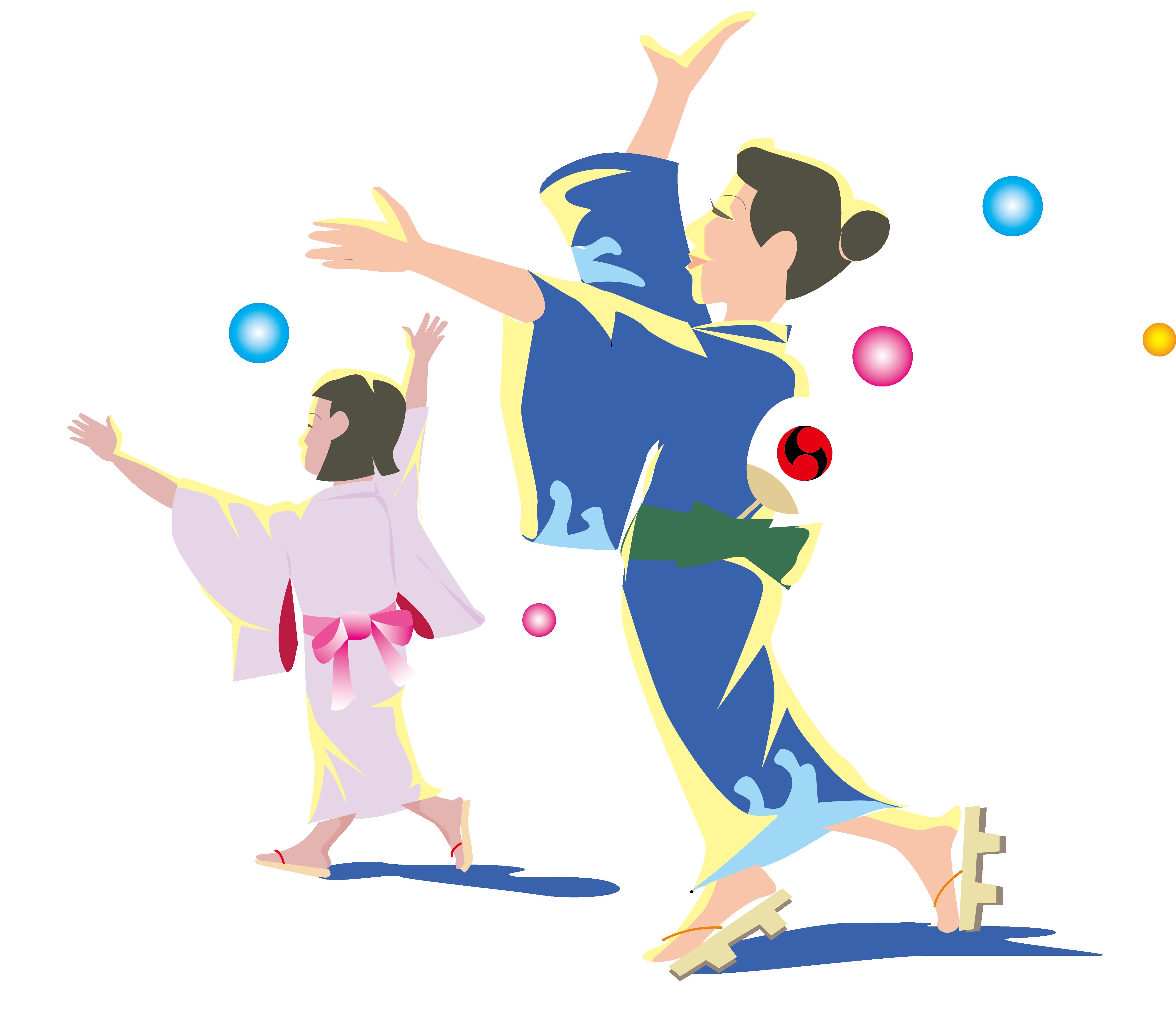 Mango clipart dancing. Japan dance clip art