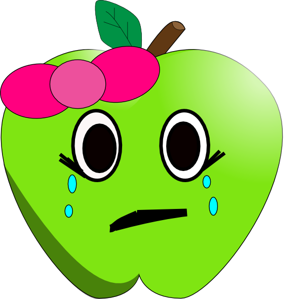 Crying apple clip art. Cry clipart cried