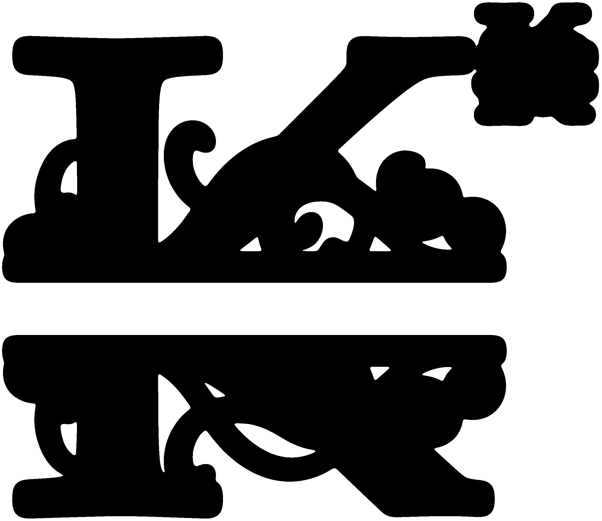 Letter clip art initials. L clipart monogram