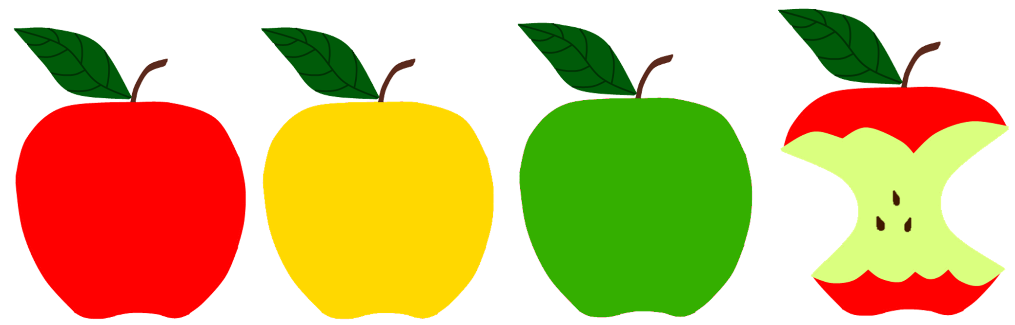 Apples sunflower red green. Storytime clipart area