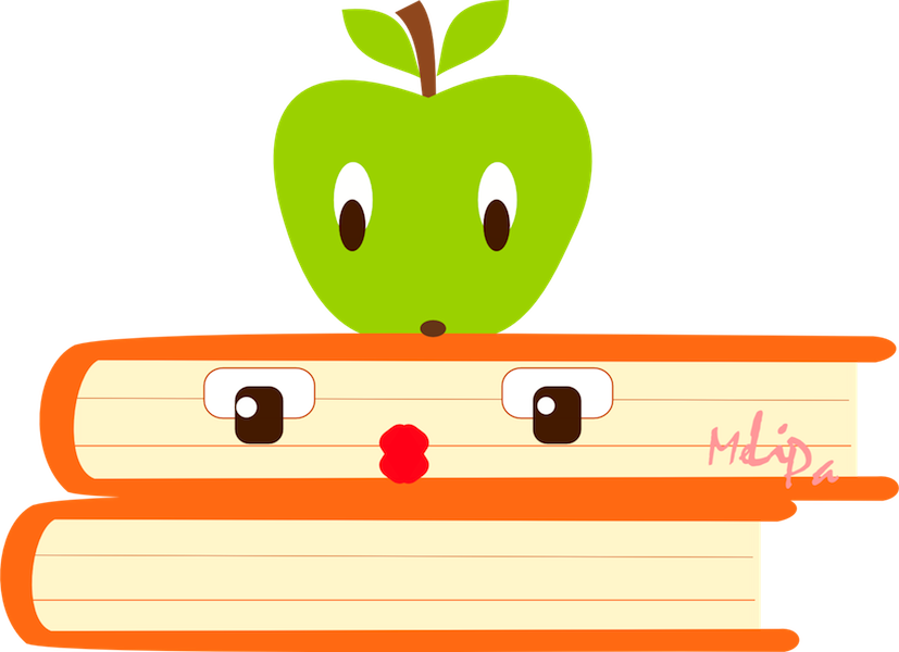 Clipart road backdrop. Books with apple free