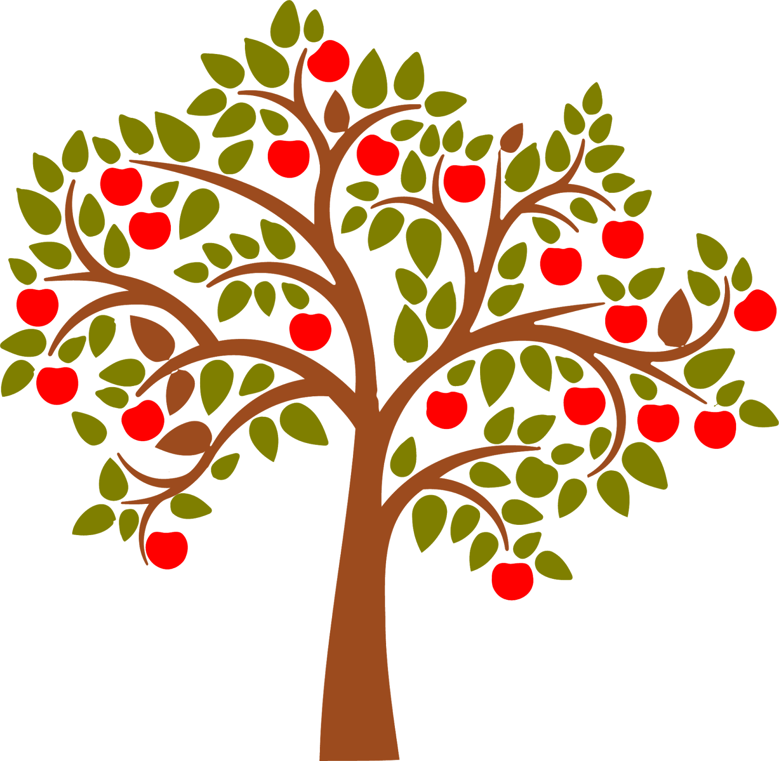 Drawings of pear trees. Winter clipart apple tree