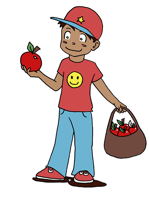 Ct apples for kids. Strawberries clipart kid