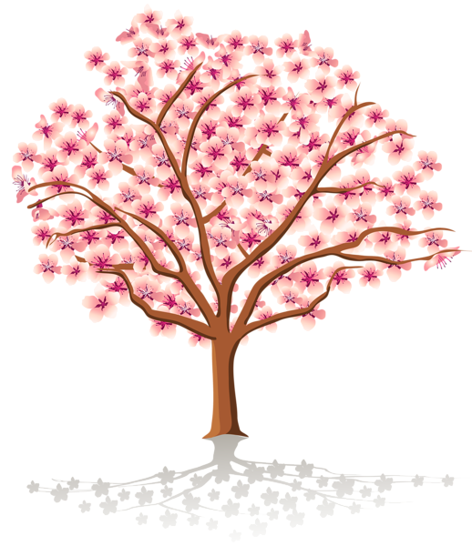 Clipart tree september. Transparent spring png trees