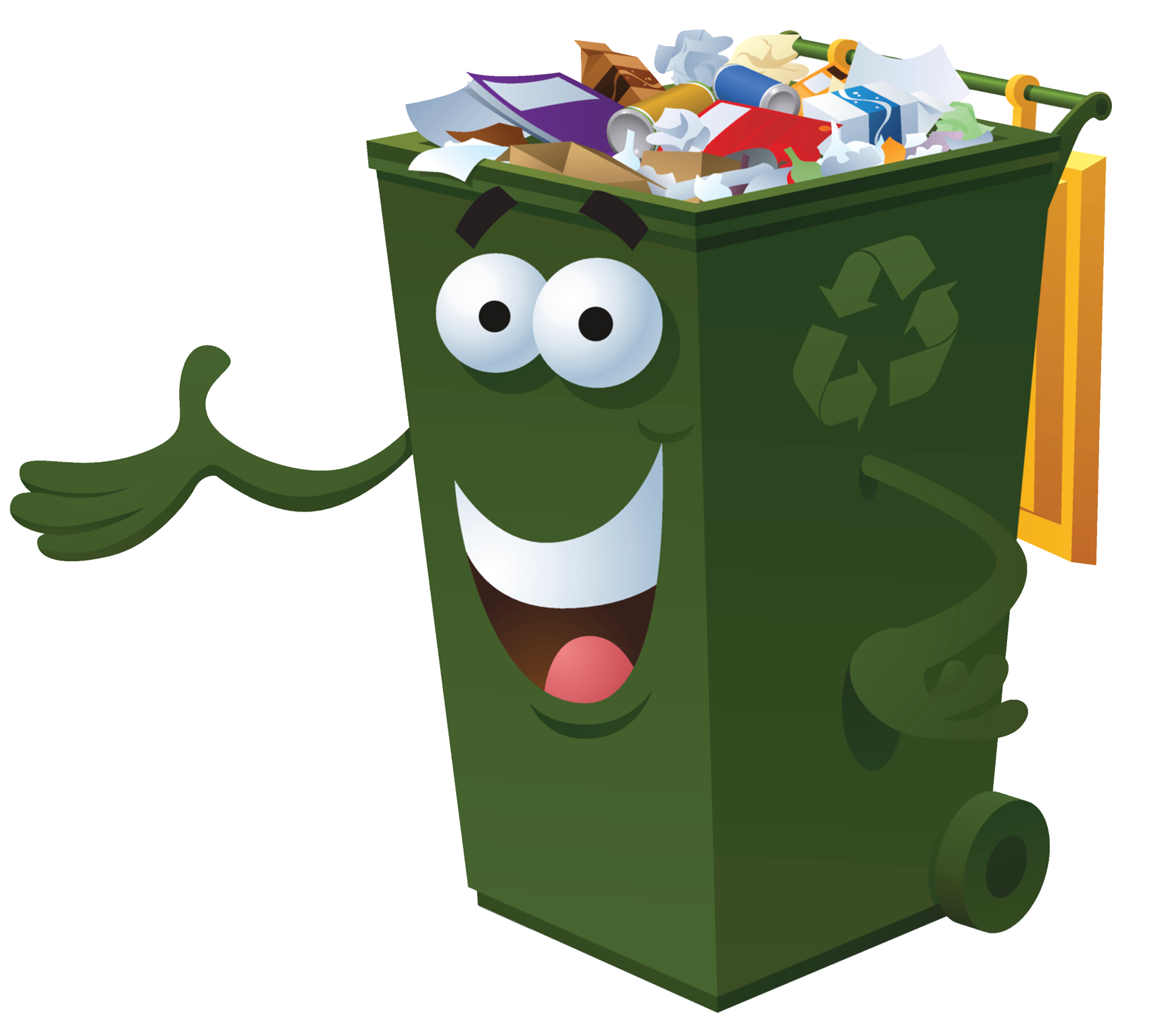 Environment clipart full bin. Waste container recycling paper