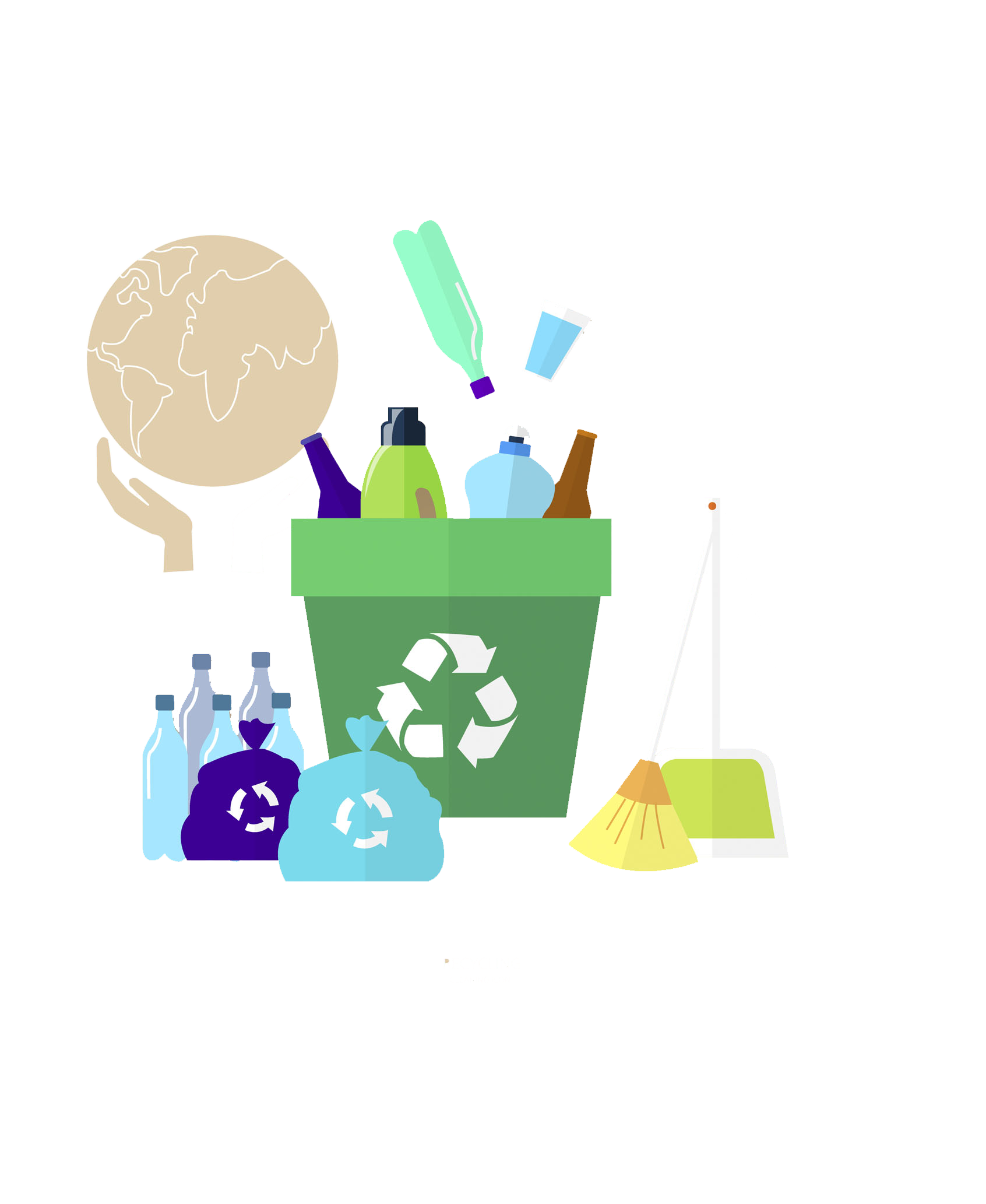 Recycling waste container green. Environment clipart upcycling