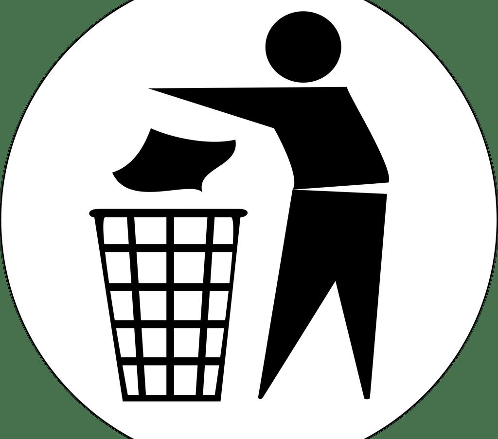 Human clipart human waste. Rubbish bins paper baskets