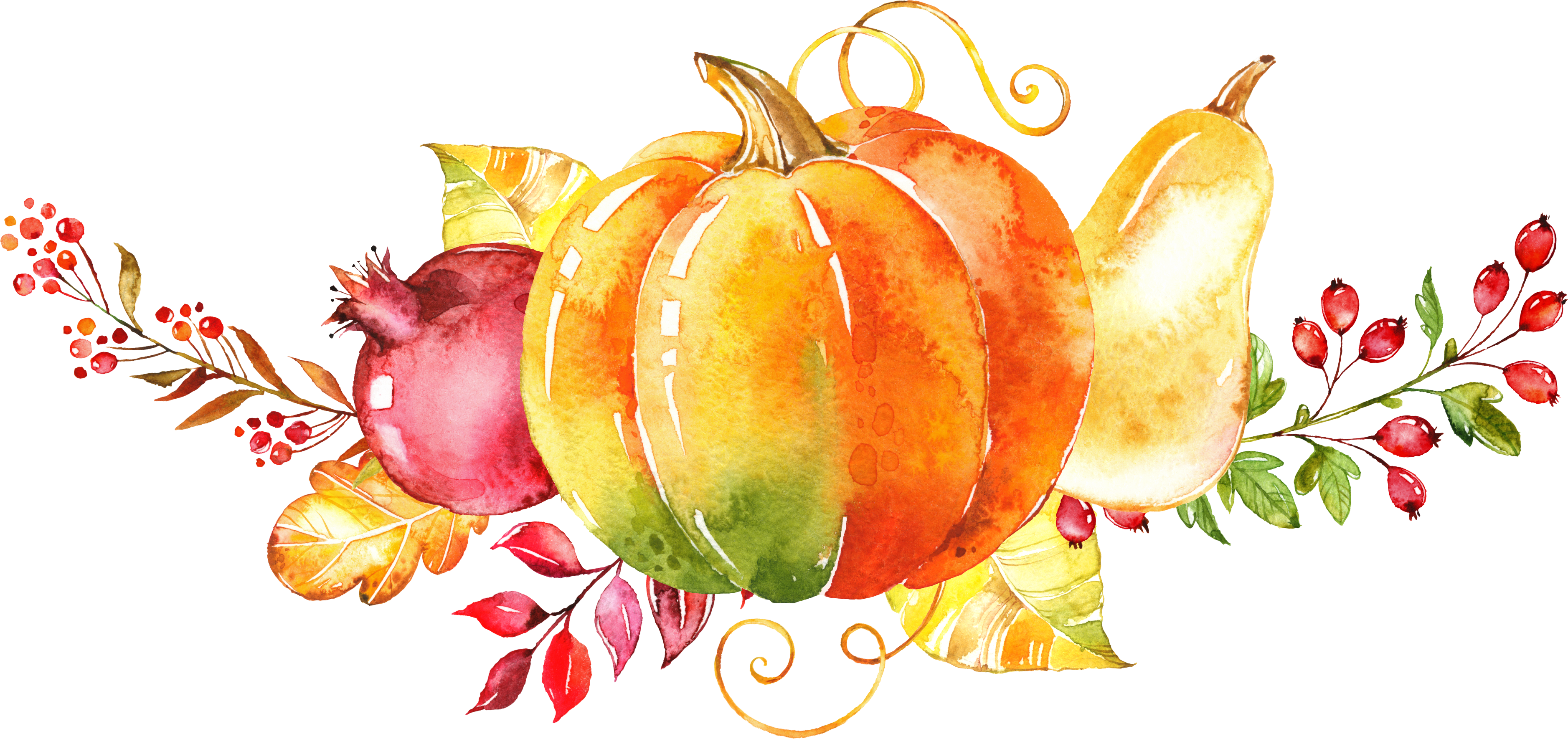 Vegetables clipart watercolor. Painting autumn clip art