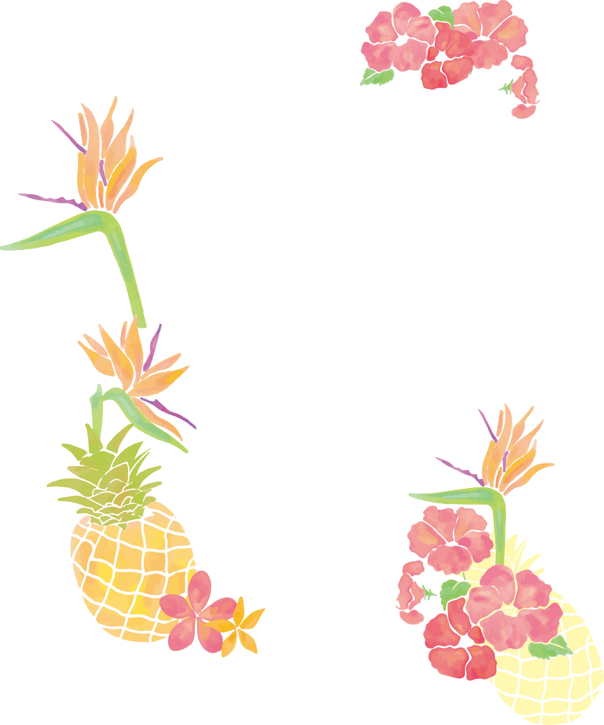 Pineapple clip art small. Fruits clipart borders