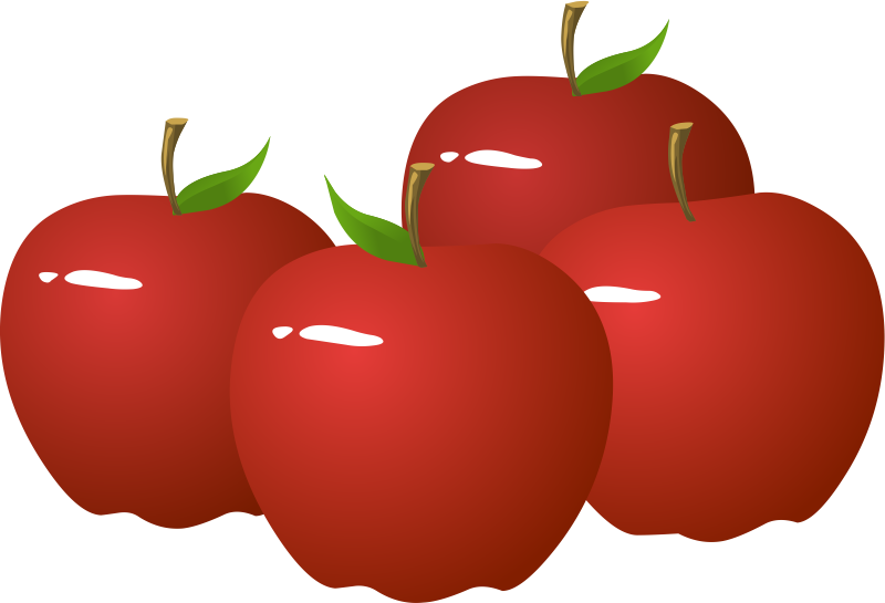 Mango clipart four. Apples