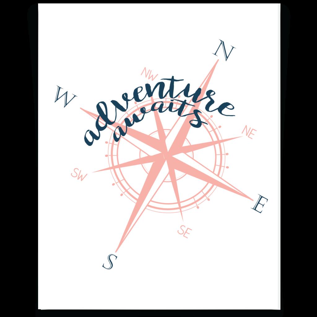 Printable pinterest adventure awaits. Explorer clipart compass star