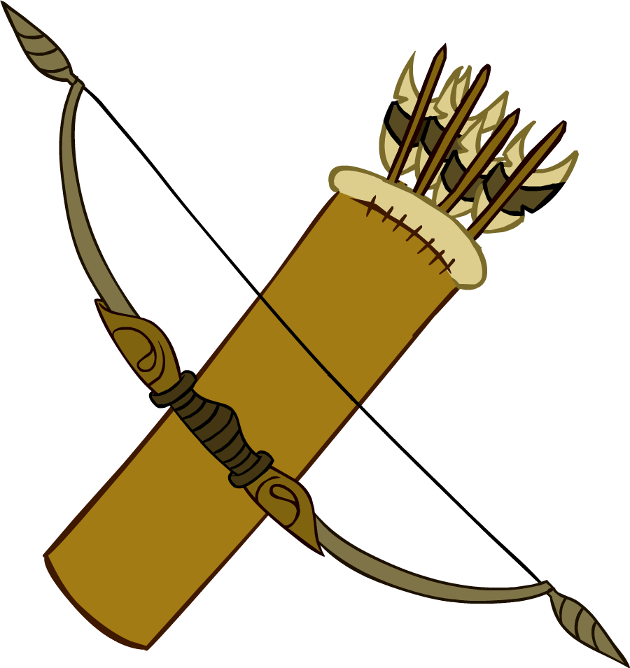 Image bow and arrows. Club clipart club weapon