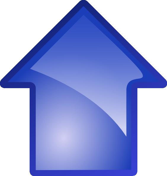 Blue clip art at. Up clipart arrow