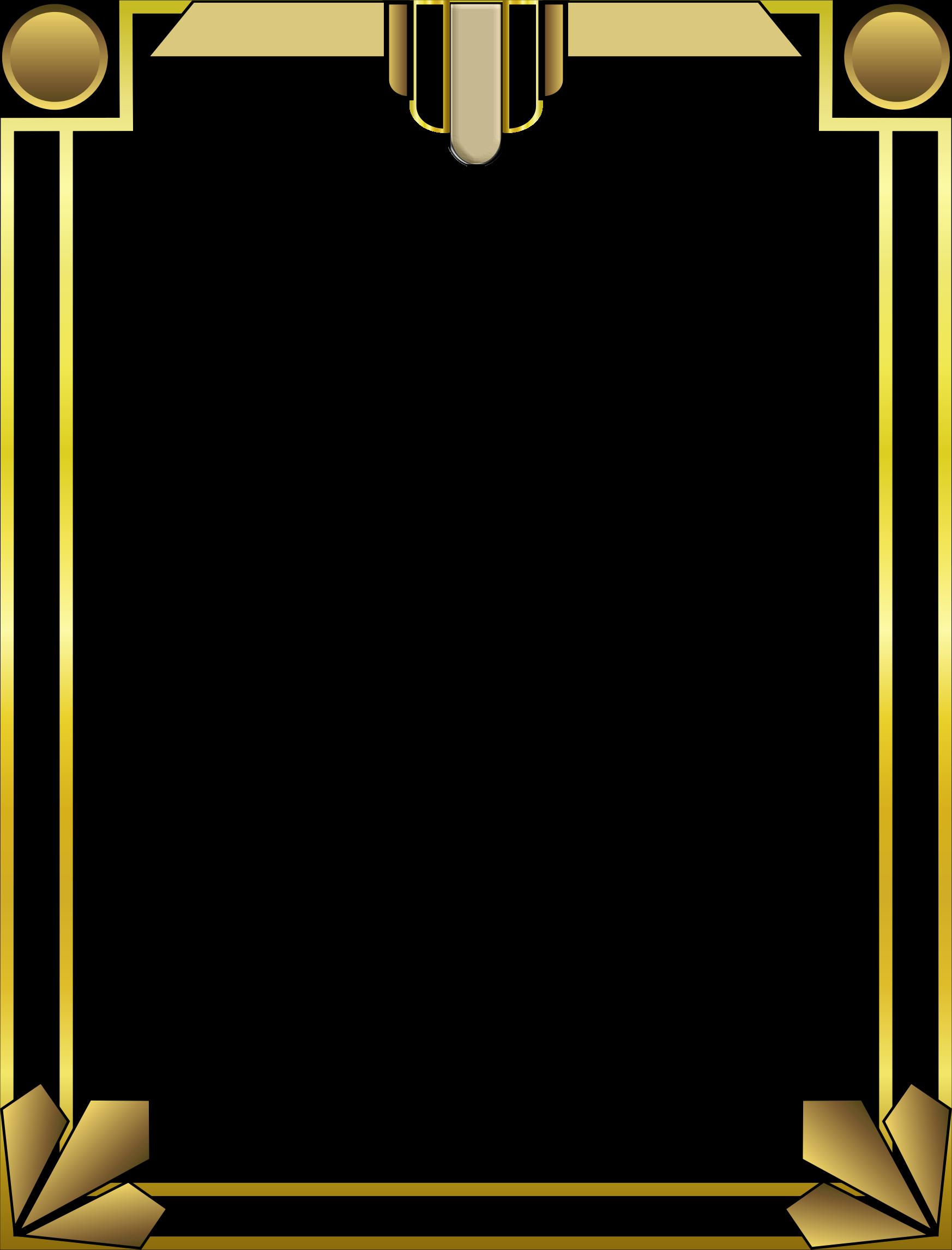 Clipart frames art deco. Border by arvin r