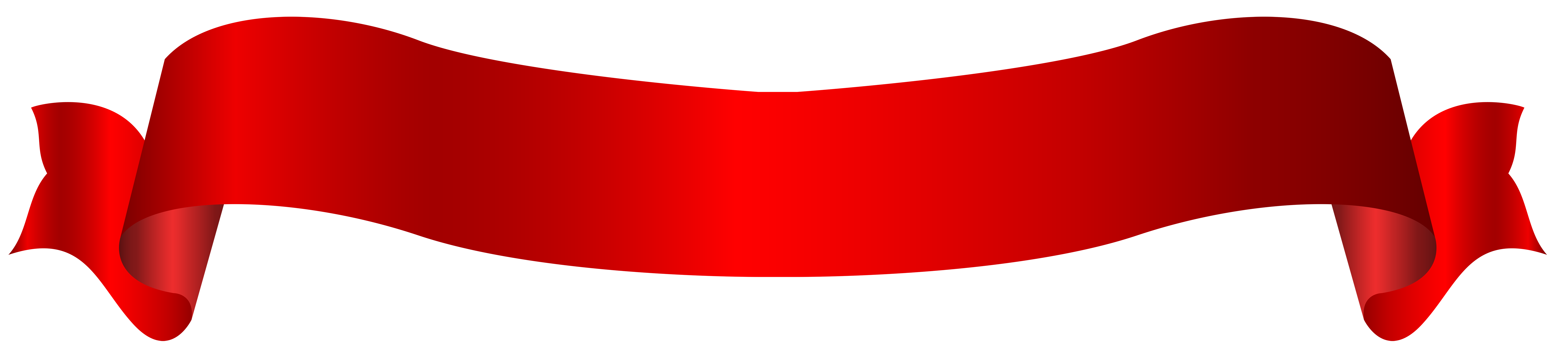 Long red png transparent. Clipart hearts banner