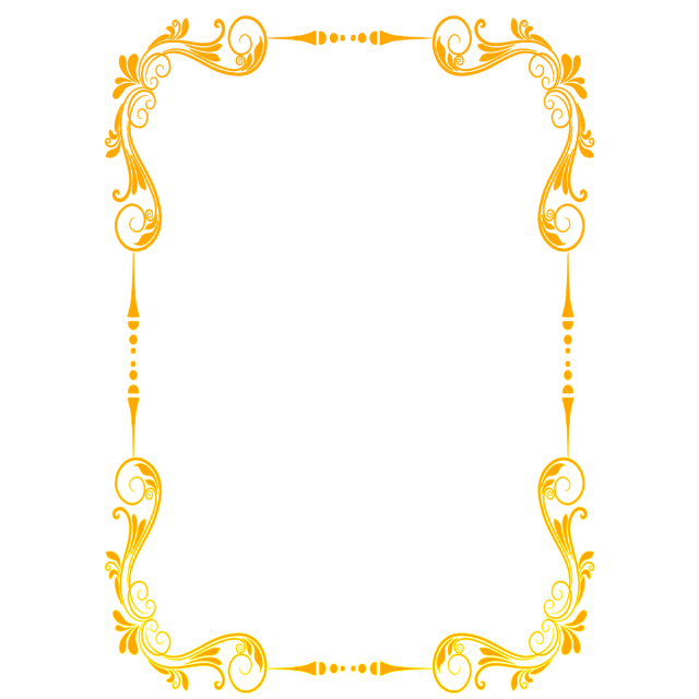 Beautiful gold lace border. Royal frame png