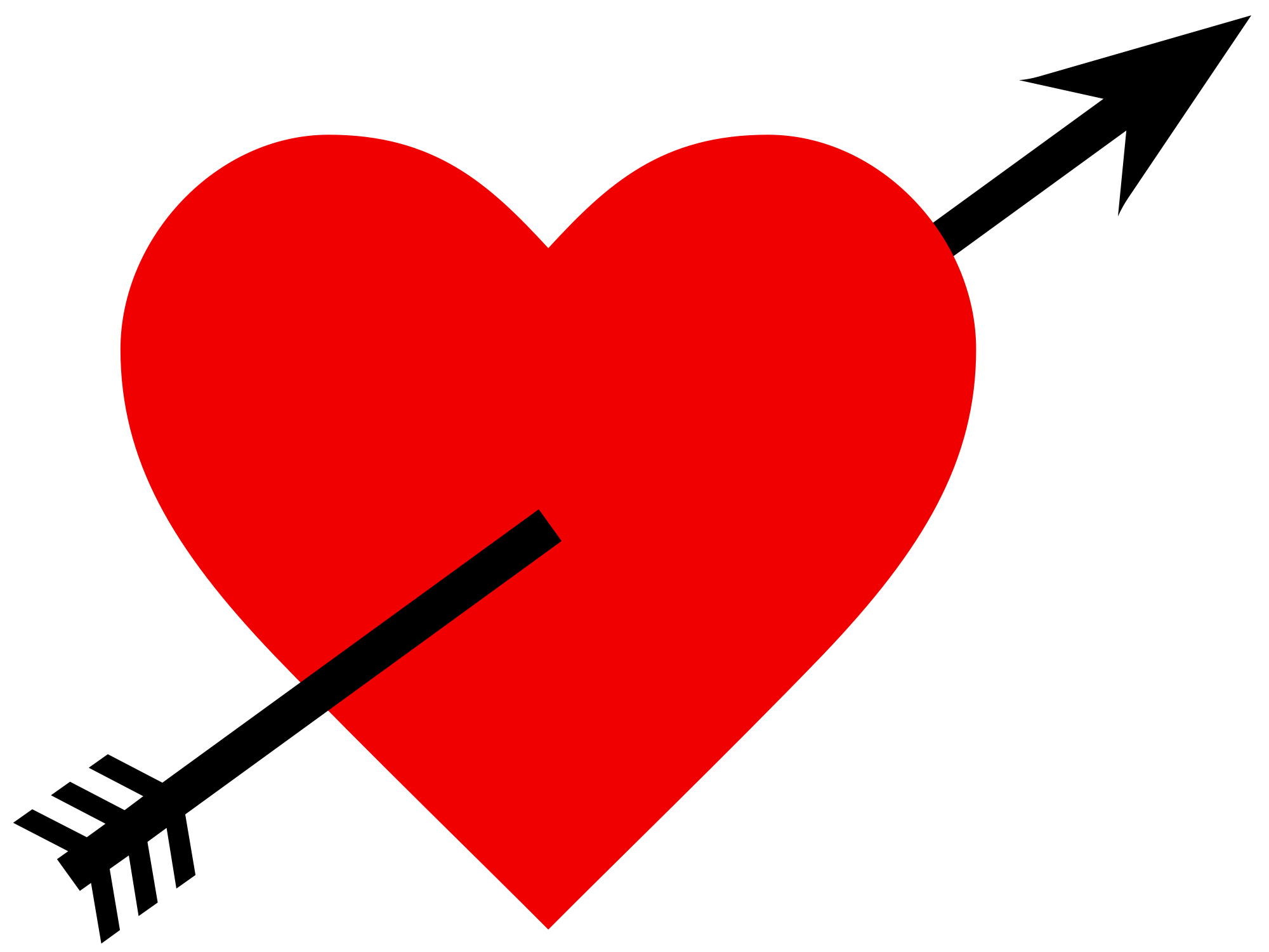 Heart jokingart com arrow. Hearts clipart volleyball