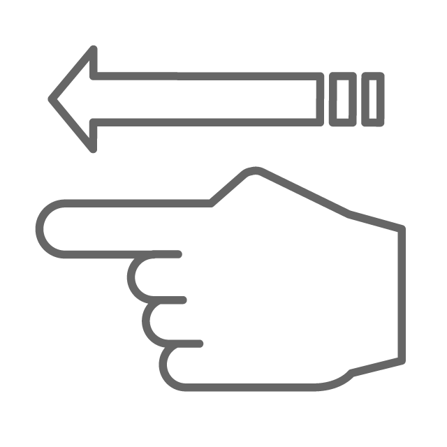 Fingers clipart hand direction. Course arrow free icon