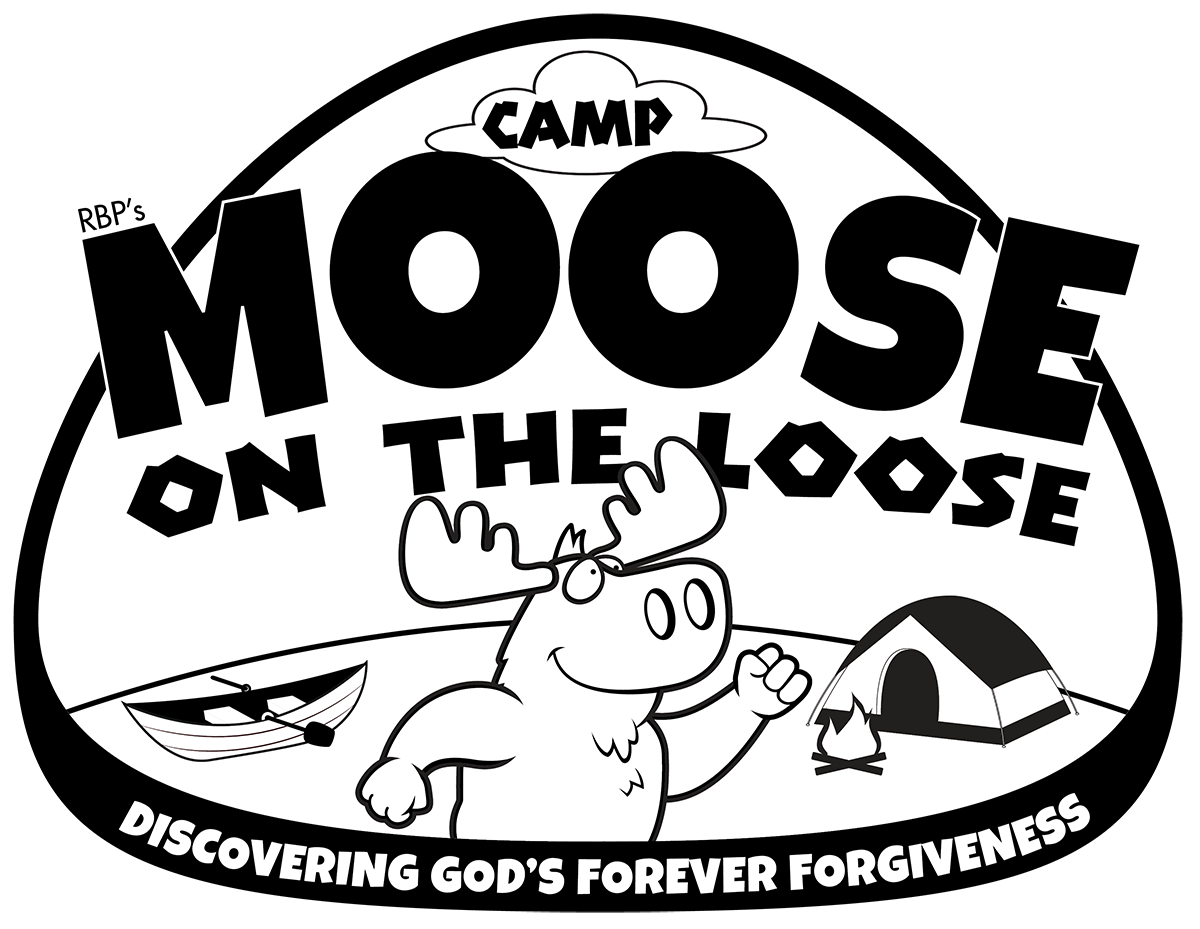Camp moose on the. Log clipart campfire