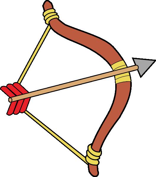 Bow and arrow clip. Clipart man archery