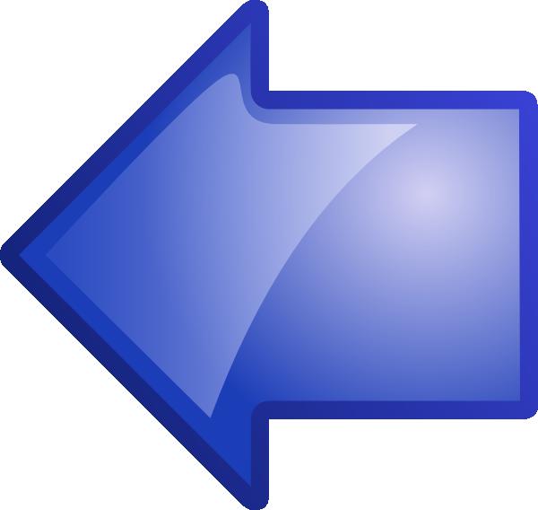 Clipart computer clear background. Arrow blue left clip