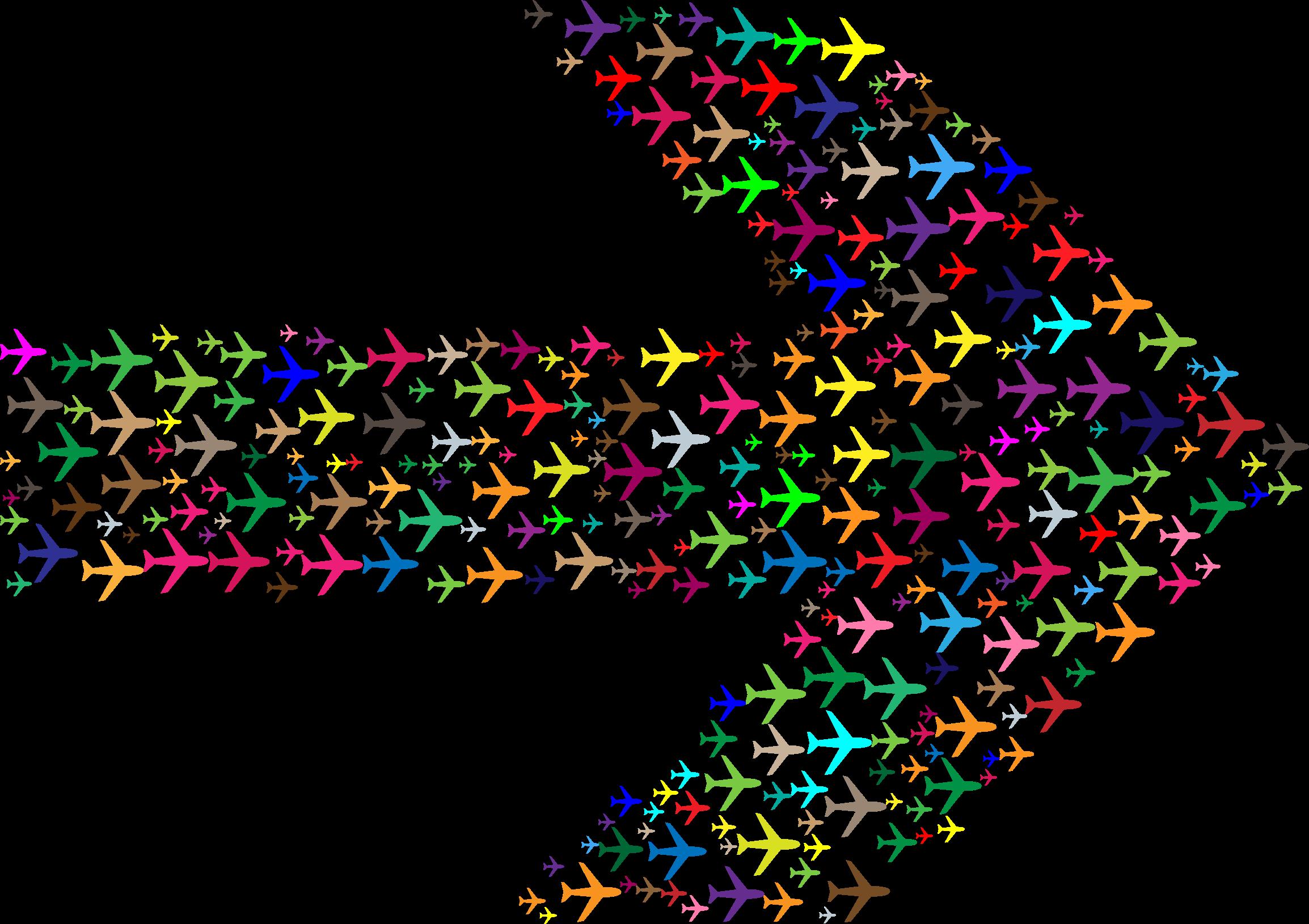 Clipart arrow colourful. Colorful planes big image