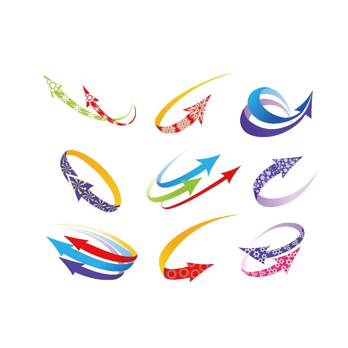 Logo graphic design clip. Clipart arrow colourful