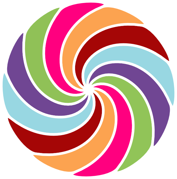 Clipart arrow colourful. Spiral at getdrawings com