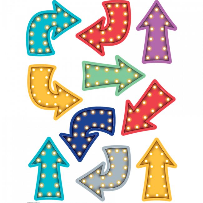 Clipart arrow colourful. Display cut out cards