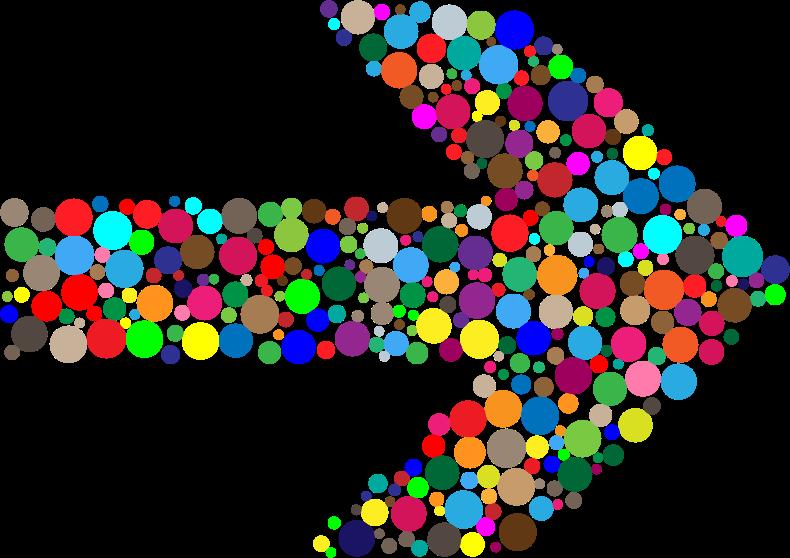 Clipart arrow colourful. Colorful circles medium image