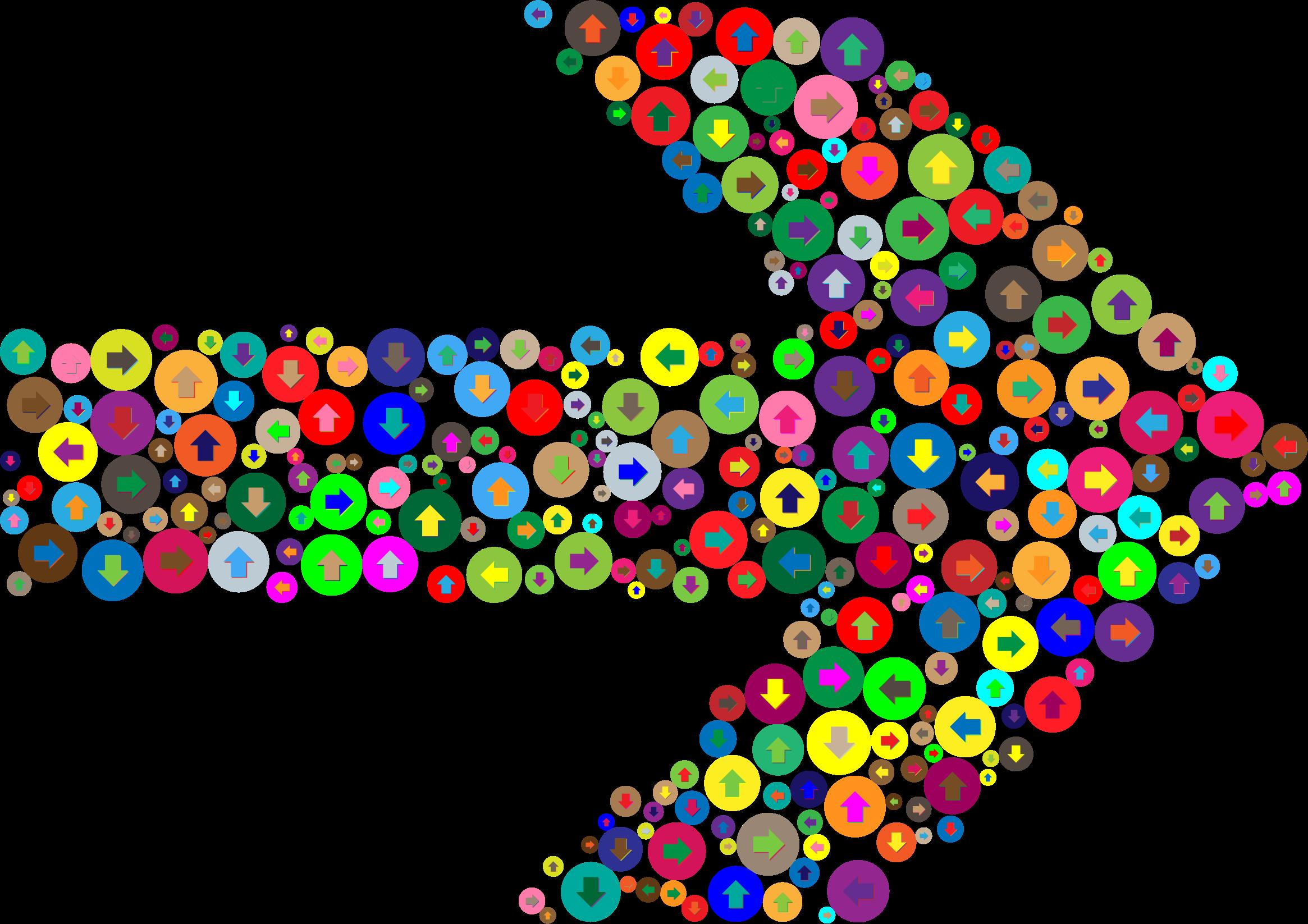 Colorful confusion big image. Clipart arrow colourful