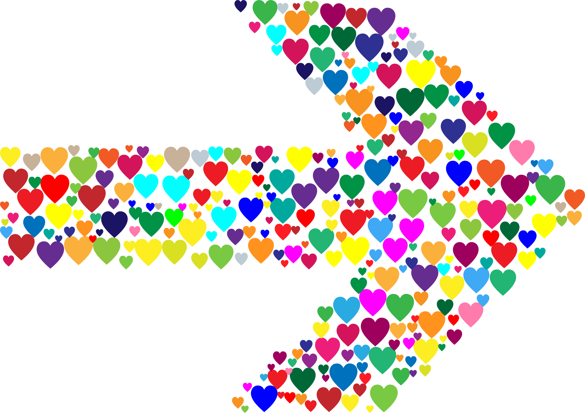 Pocket clipart colorful. Hearts arrow big image
