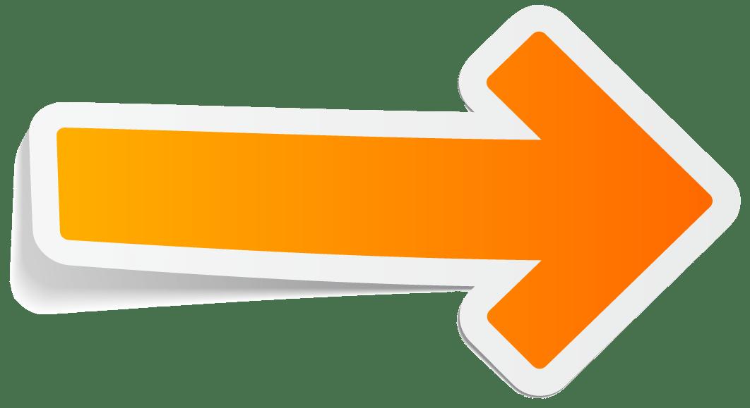 Sticker orange arrow transparent. Clipart arrows creative