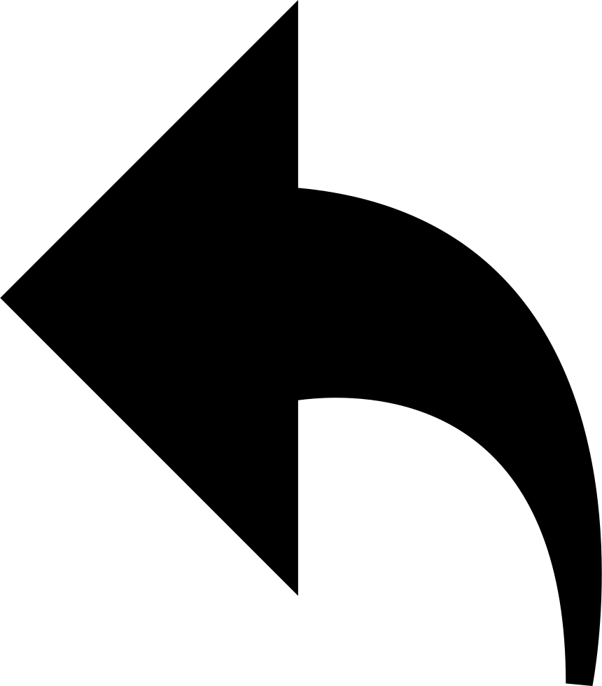 Clipart arrows end. Left curved arrow svg