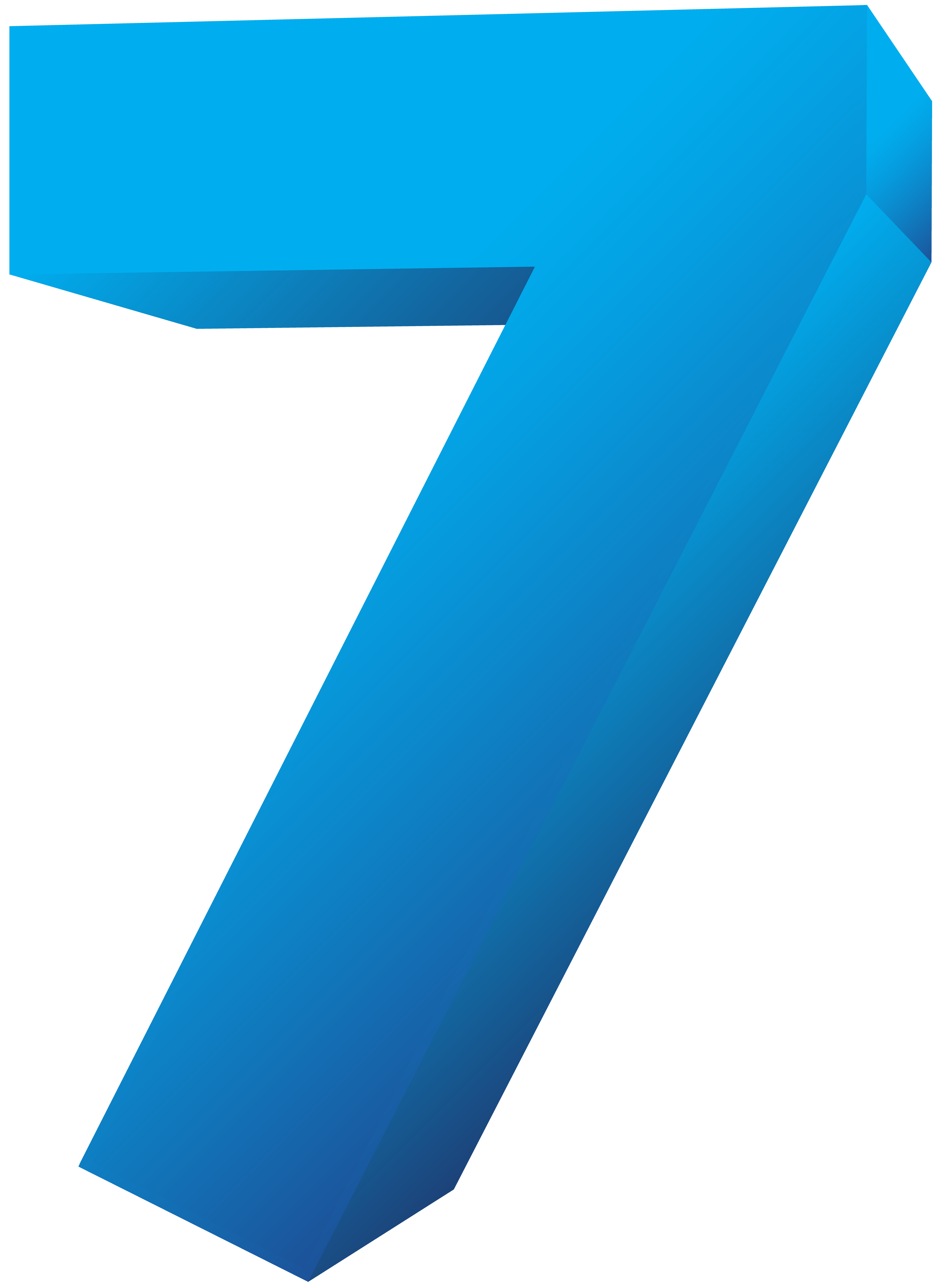 Number seven transparent png. Clipart numbers blue