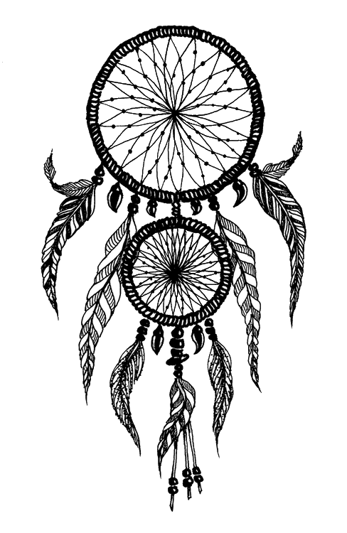 Ascottybrit transparent dreamcatcher to. Dreaming clipart black and white