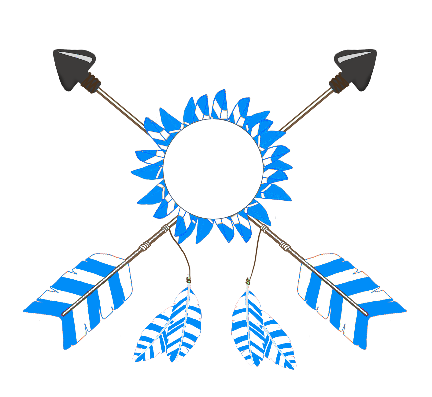 Feathers clipart tribal arrow. All kinds of crossed