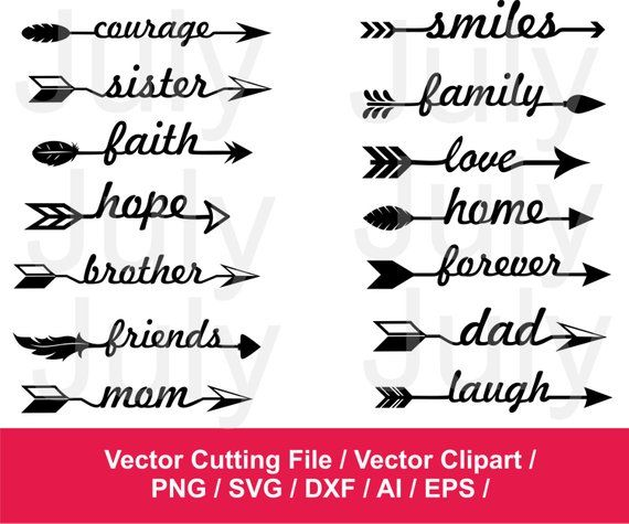 Pin on products . Clipart arrow family