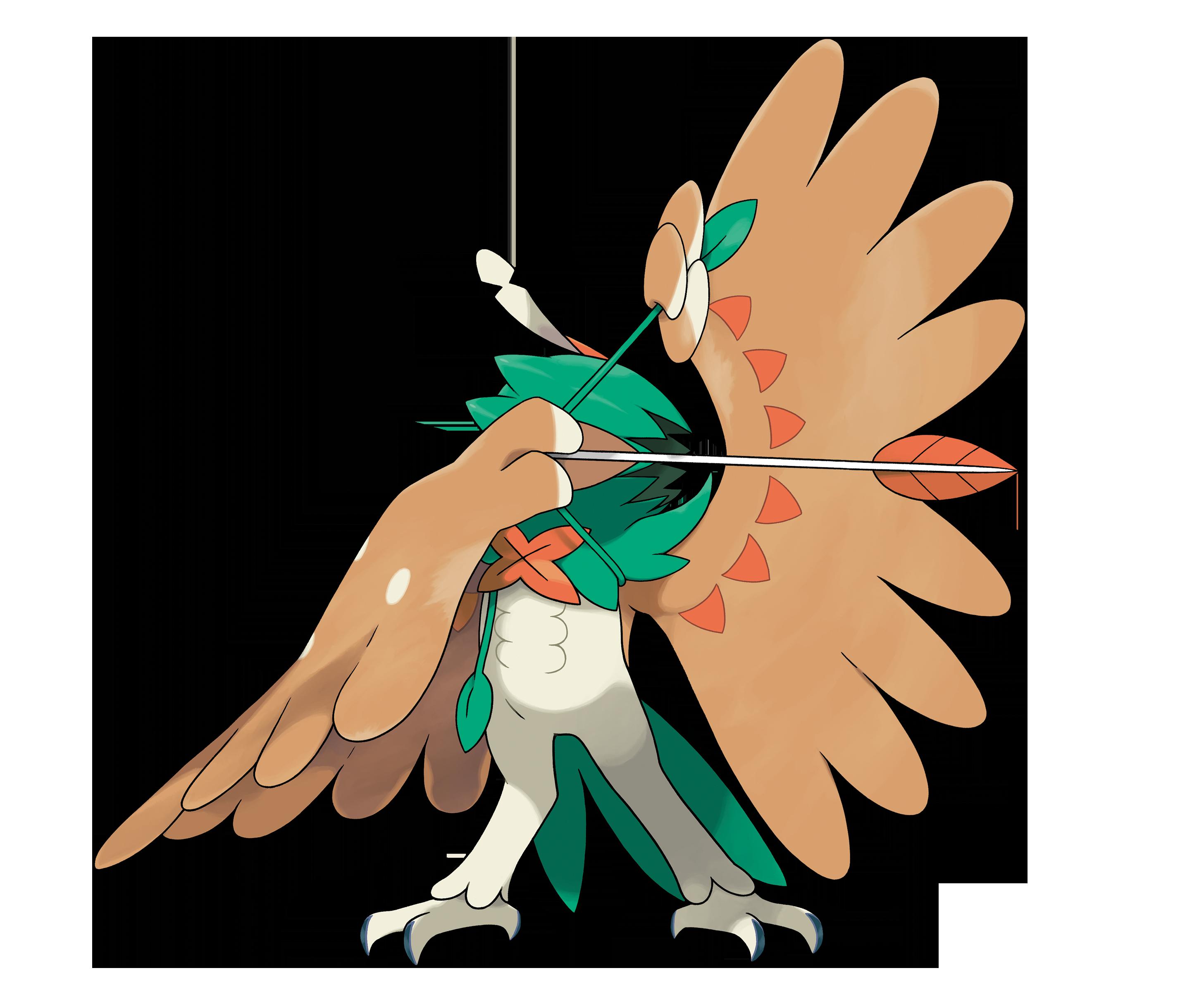 Feathers clipart arrow. Decidueye used sinister raid
