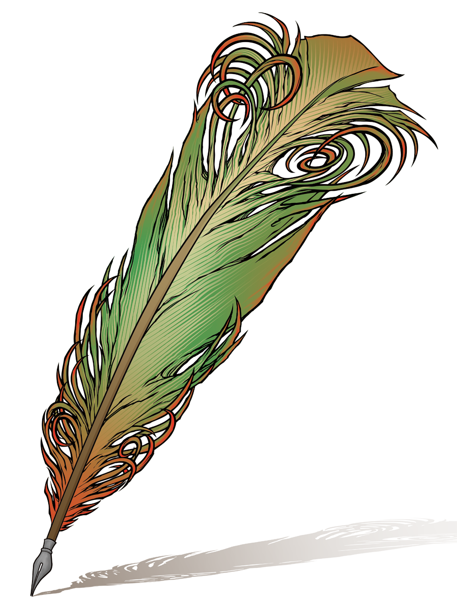 Quill pen image cliparts. Pencil clipart feather
