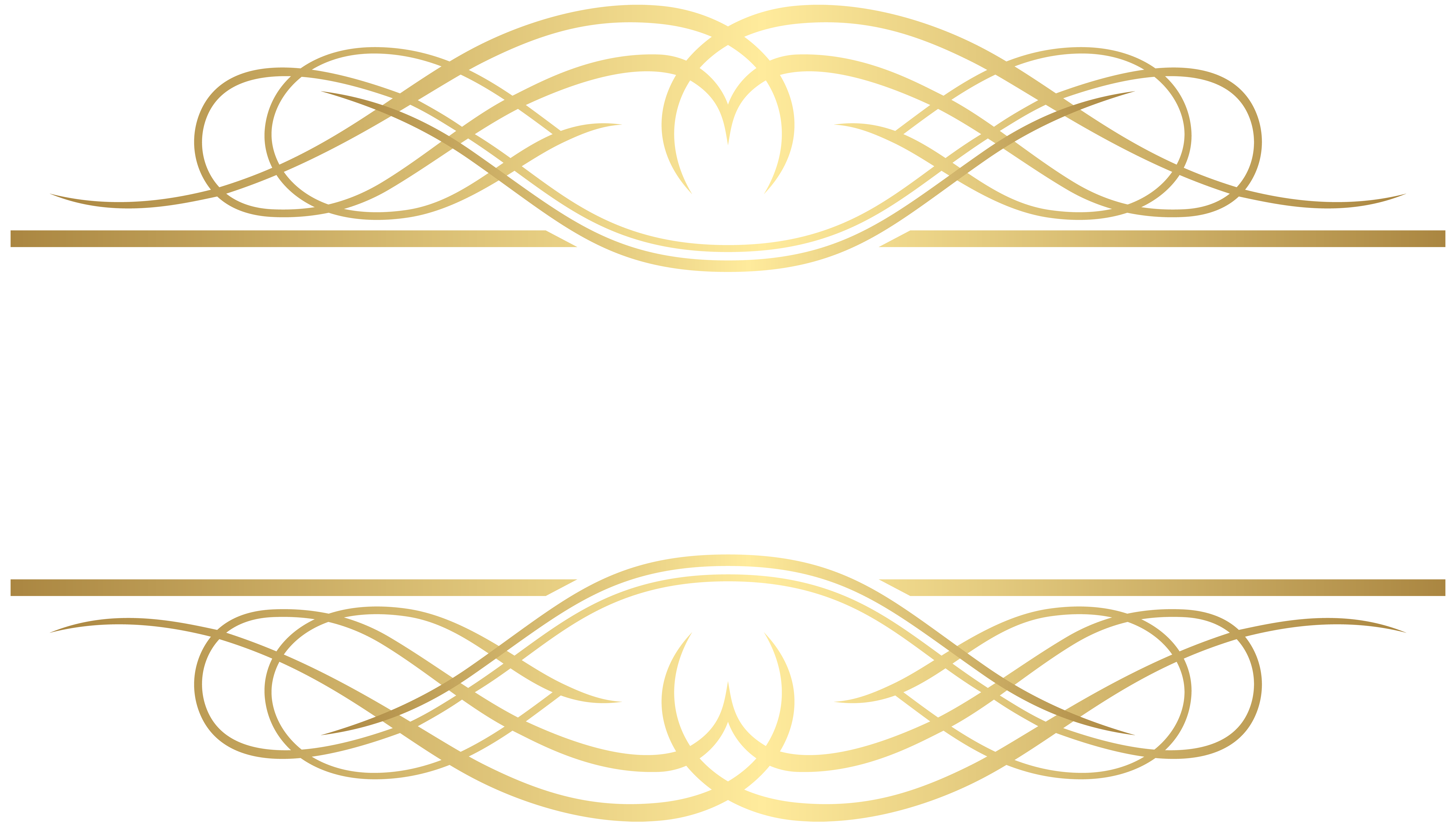 Deco Element Gold PNG Clip Art