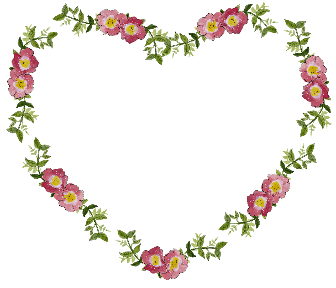 Clipart hearts flower. Free image on pixabay