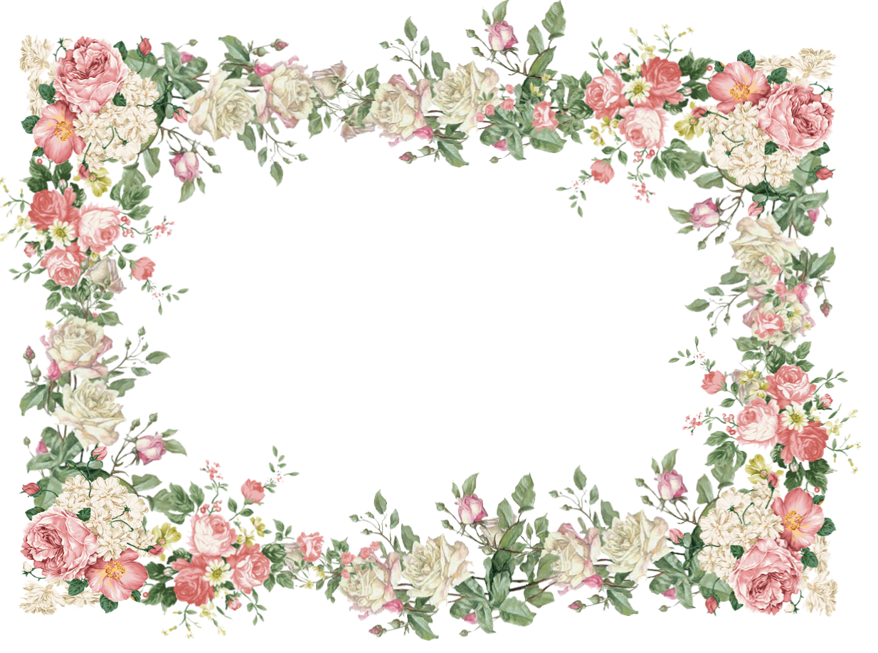 Vintage pink free frame. Clipart arrows flower