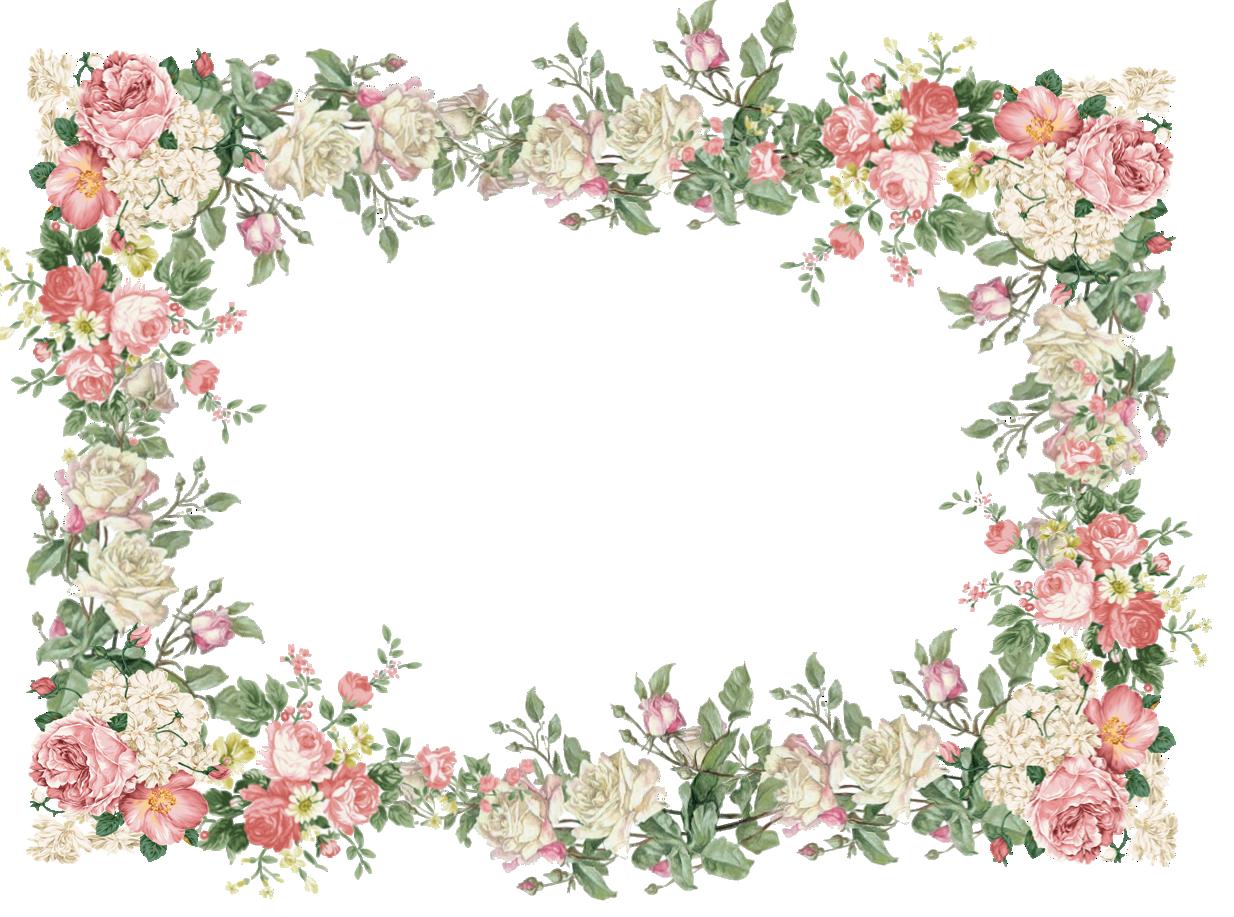 Pink free flower frame. Clipart calendar vintage