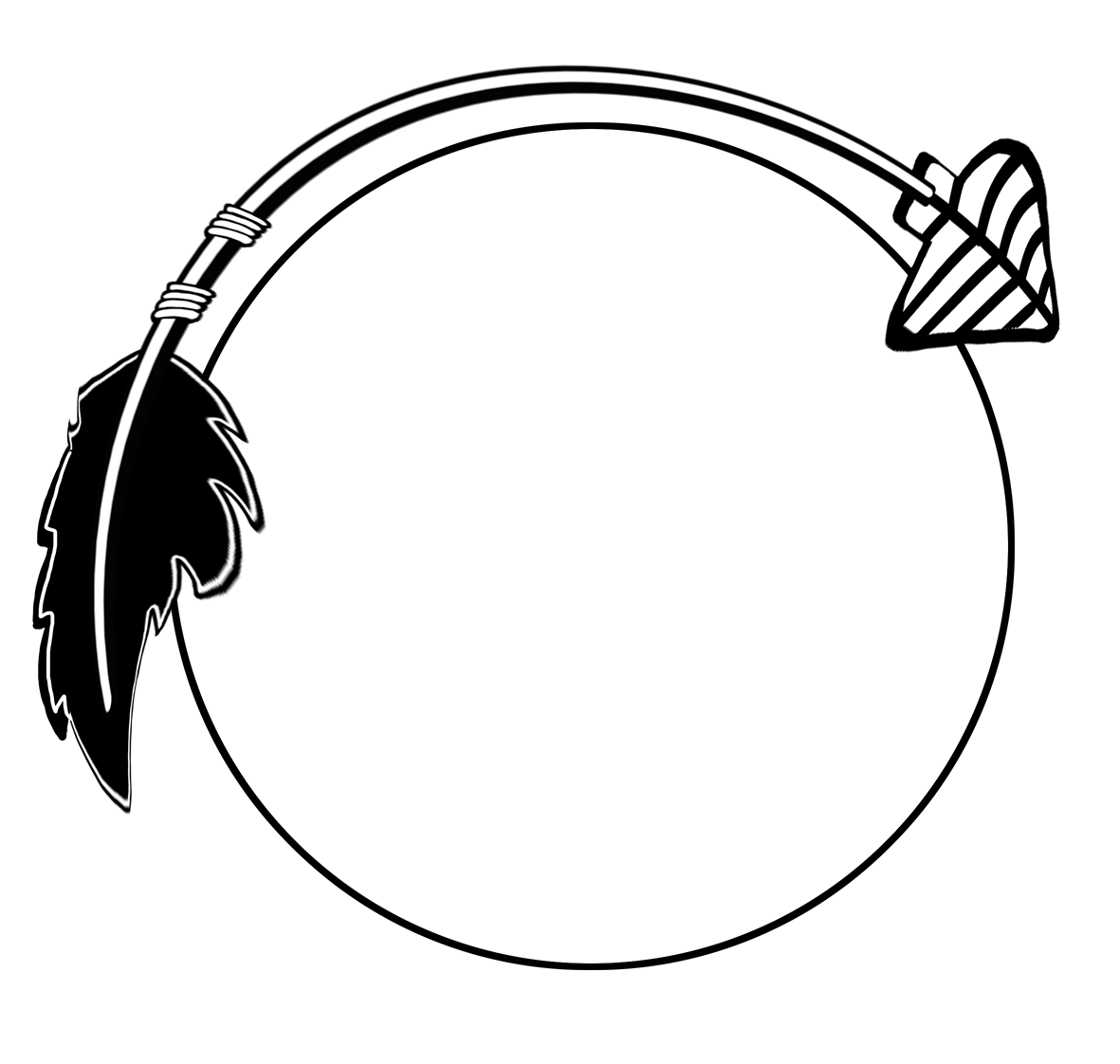 Clipart arrows frame. Black curved arrow jamie